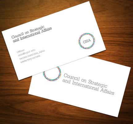 CSIA Business Card Design