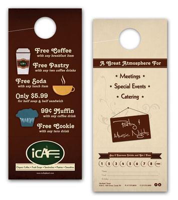 iCafe Door Hanger Designs