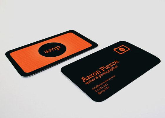 Aaron Pierce Business Card Design