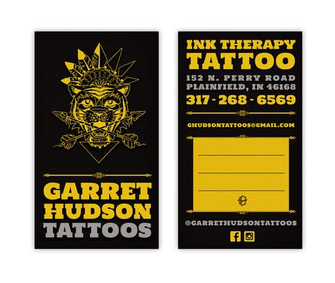 Garret Hudson Tattoos Business Card Design