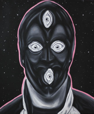 """Fetish Universe"", Öl auf Leinwand, 50x60cm, 2020"
