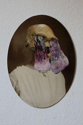 """""""Untitled death"""", Collage auf antiker Fotografie, 39x29cm, 2019"""