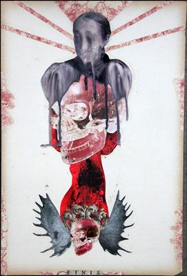 """""""Finis (Aus der selben Substanz)"""", Collage, Malerei, 48x32cm, 2013"""
