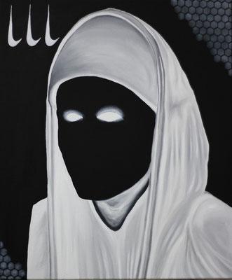 """""""Nike 666"""", Öl, Acryl auf Leinwand, 50x60cm, 2020"""