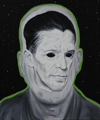 """Head in Head Universe"", Öl auf Leinwand, 50x60cm, 2020"