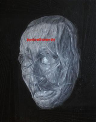 """""""Heroin will never die"""", Öl auf Leinwand, 100x80cm, 2018"""