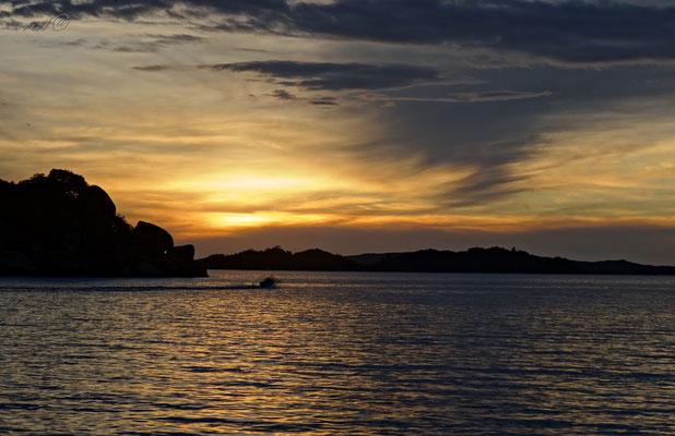 Sonnenuntergang Victoriasee/Tansania