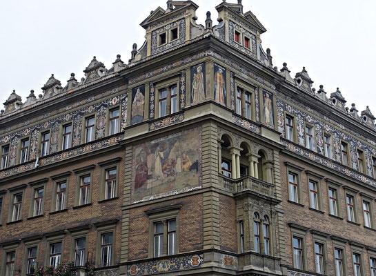 Hausfassade in Prag