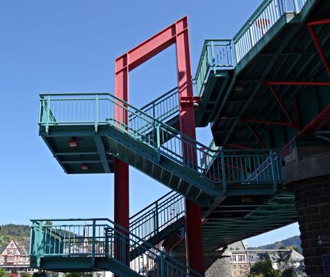 Treppe zum Brückentor von Traben Trarbach