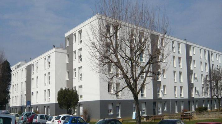 LogiEst, rue Mermoz à Fameck, travaux d'Isolation extérieure peinture et bardage