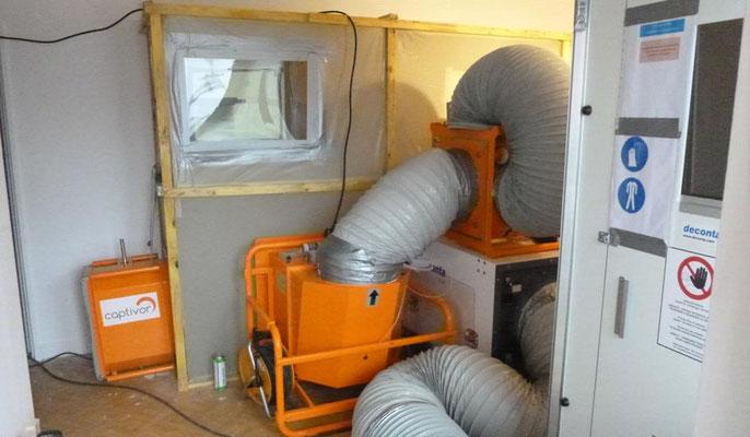 Installation de confinement avec renouvellement d'air de niveau 2
