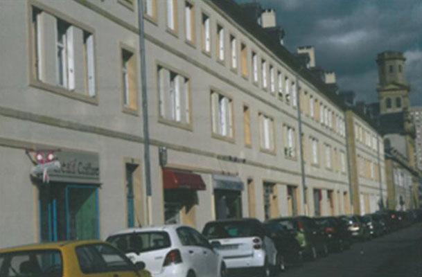 OPAC, place de France & Rue George Aimé à Metz, travaux de peinture minérale bâtiment ABF