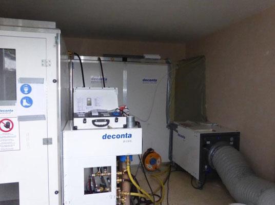 Installation de confinement avec renouvellement d'air