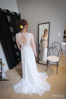 Stephane Moreau Photographe Mariage Chalonnes sur Loire maine et loire anjou robe de mariée preparatif