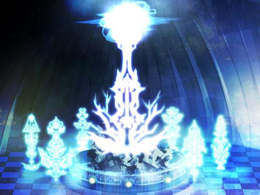 『水の神殿「魔力増幅機」』イラスト:じゅボンバー