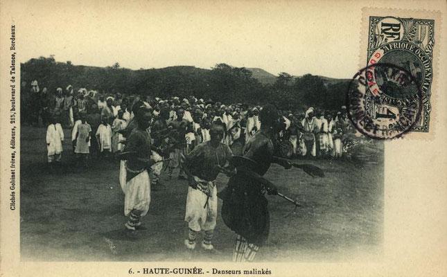 """""""Malinke"""" dundunba dancers, upper Guinea"""