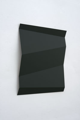 RAL 6009-Tannengrün, 2007, Autolack auf Alu, 80 x 80 x 7 cm