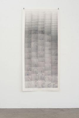 o.T. 2018, Aquarell, 183 x 86 cm