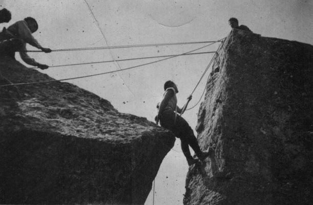 Aux clochetons de Planpraz, août 1935.