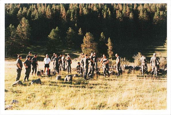 Première étape : départ Petite Serenne (1513m) et arrivée sur le plateau (1850m- photo)
