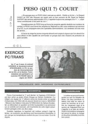 Au centre, le général GENEST, chef de la 15e D.I., puis Gouverneur Militaire de Lyon (1995-1997).