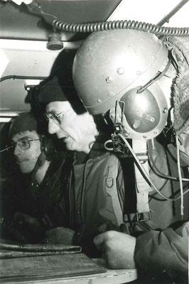 Le CDC dans son VAB PC, manoeuvre du Valdahon 1987
