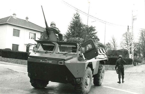 VAB de la 4e cie, manoeuvre du Valdahon 1987