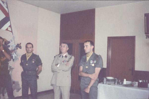 Mot d'adieu du CNE DERACHE au mess officiers
