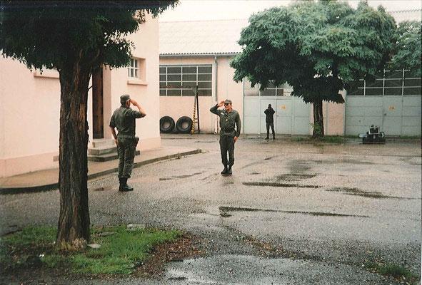 CBA VERRIERE/OSA, présente les troupes au LCL MUDLER/CDC.