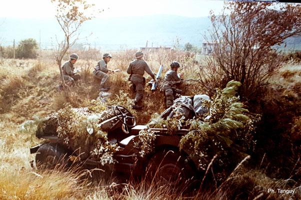 La patrouille en garde (menace blindés prise en compte, LRAC de 89 mm en position) !