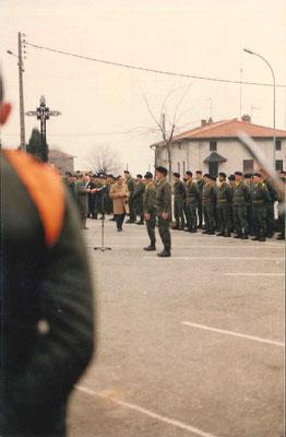 Les chefs de corps d'active et de réserve, COL LE GOFF et LCL MARIN.