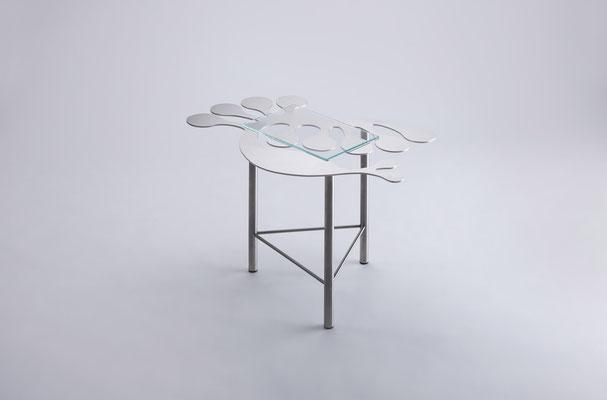 Floreszens   04  Tea table in stainless steel