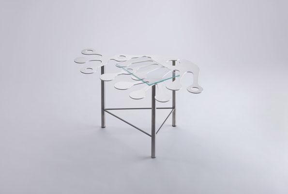 Floreszens   05 Tea table in stainless steel