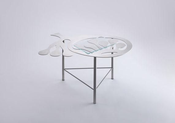 Floreszens   02  Tea table in stainless steel