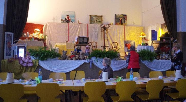 Der fertig dekorierte Saal