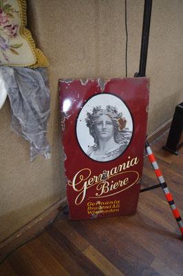 Emaille Schild der Brauerei