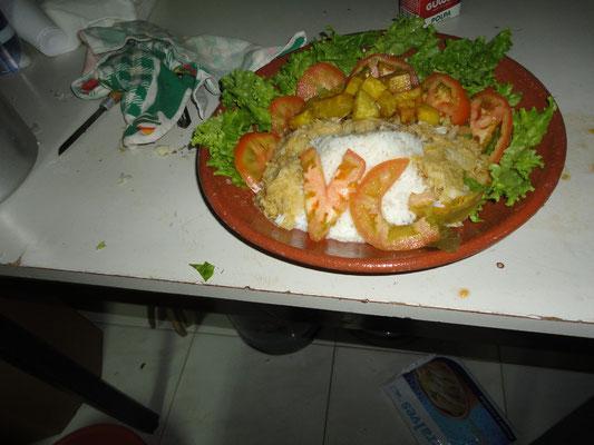 prato vencedor do Desafio Culinário... Equipa Vasco da Gama