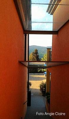 Residence Fiesole, Trasparenza sulle scale, Transparency on the stairs, in Fiesole.
