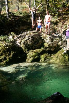 torrente di montagna. Slovenia