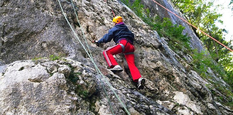 arrampicata sulla roccia. Slovenia