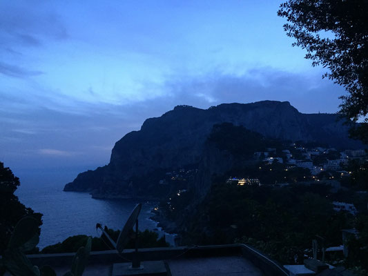Dusk overlooking the cliffs of Capri