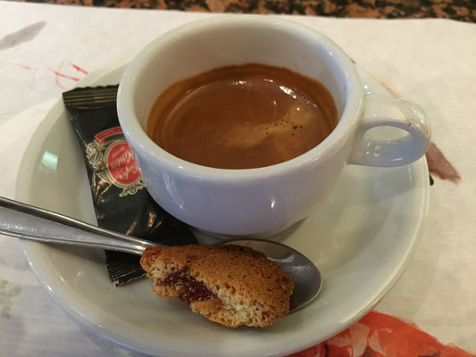 And then espresso afterwards which was also complimentary.