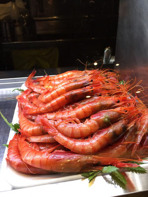 A plate of enticing whole shrimp