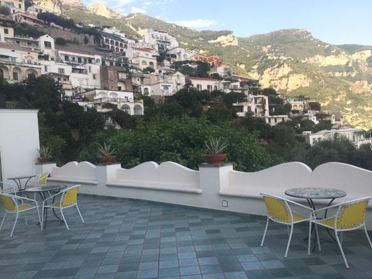 Airbnb balcony overlooking Positano