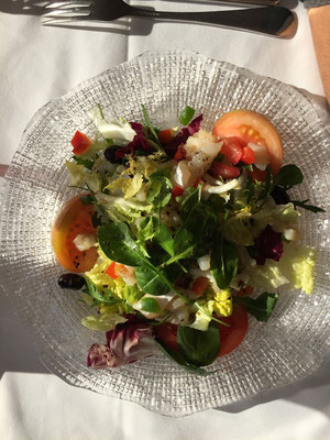 the cod salad.  It was pretty
