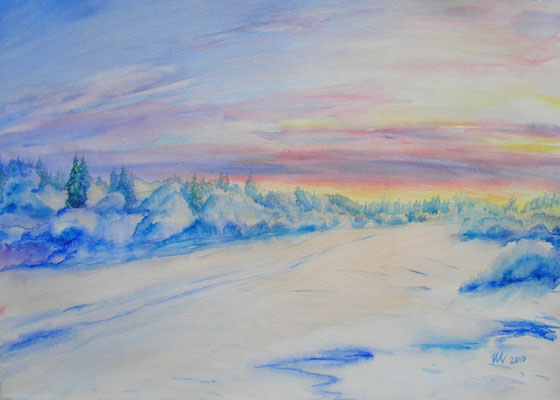 Winter light-1, 30x40cm, 2010. Sold!