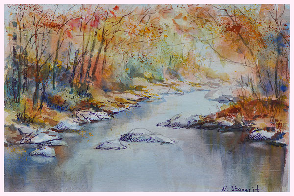 Autumn etudes Watercolor on paper, 21x29cm, 2016