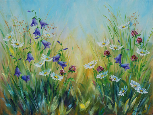 Summer flowers #4. Oil on canvas, 30x40cm. 09-2017