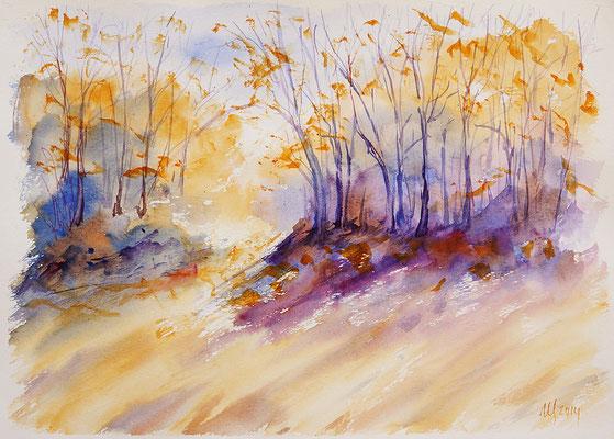 Autumn etudes #5 Watercolor, 30x40cm. 2014