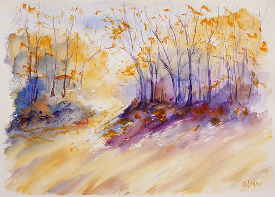 Autumn etudes #5 Watercolor, 30x40cm. 2014
